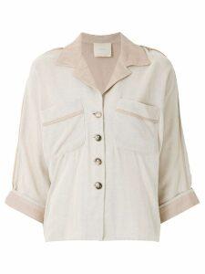 Framed Cashquere Mumbai shirt - NEUTRALS