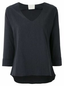 Framed Linen top - Black