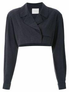 Framed cropped jacket - Black