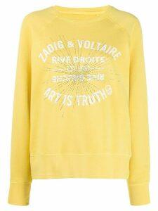 Zadig & Voltaire logo embellished sweatshirt - Yellow