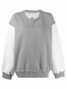 Mm6 Maison Margiela oversized contrast sweater - Grey
