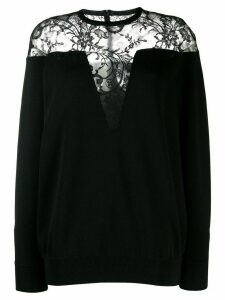 Givenchy lace panel jumper - Black
