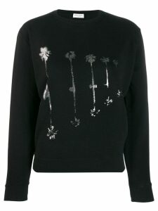 Saint Laurent palm tree print sweatshirt - Black