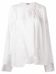 Nina Ricci off-centre tie blouse - White