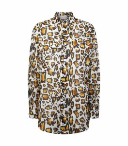 Leopard Print Boyfriend Shirt