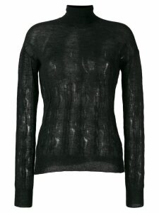 Nina Ricci knitted roll neck jumper - Black