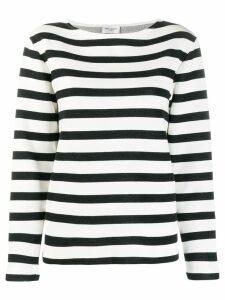 Saint Laurent striped knit jumper - Black
