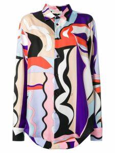 Emilio Pucci Vallauris Print Silk Shirt - PURPLE