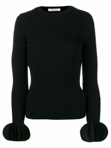Valentino embroidered stretch jumper - Black