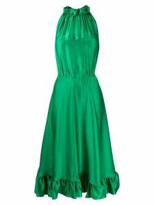 MSGM sleeveless flared midi dress - Green