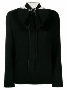 RedValentino neck bow jumper - Black