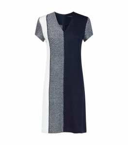Intarsia Knit V-neck Dress