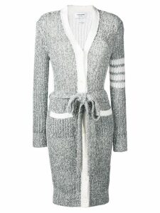 Thom Browne 4-Bar Open Stitch Cardigan - Grey