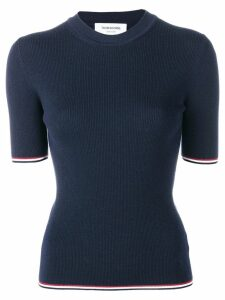 Thom Browne fitted knitted top - Blue