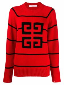 Givenchy contrast logo sweater - Red