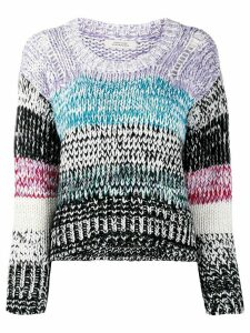 Dorothee Schumacher chunky knit stripe panel jumper - White