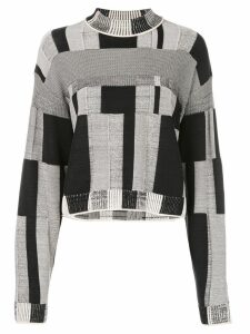 Proenza Schouler Patchwork Plaid Crewneck - Black