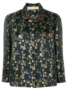 Marni embroidered shirt - Blue