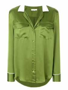 Equipment silk contrast-collar shirt - Green
