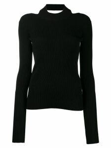 Helmut Lang open back jumper - Black