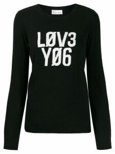 Red Valentino 'Lov3 Yo6' jumper - Black