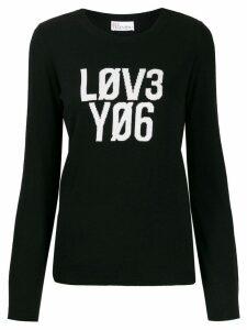 RedValentino 'Lov3 Yo6' jumper - Black