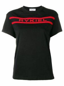 Sonia Rykiel contrast logo T-shirt - Black