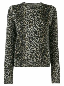 Saint Laurent leopard pattern sweater - Black