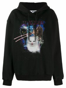 MSGM graphic cat hoodie - Black