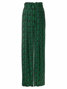 Calvin Klein love slogan print trousers - Green