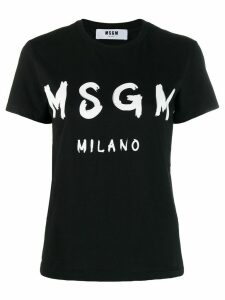 MSGM printed logo T-shirt - Black