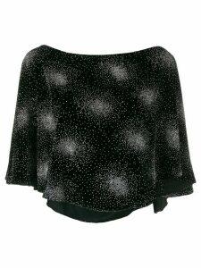 Sonia Rykiel embellished velvet blouse - Black