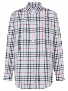 Burberry button-down collar Vintage Check shirt - Blue