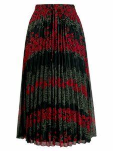 RedValentino floral pleated skirt - Black
