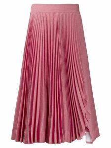 Calvin Klein 205W39nyc pleated midi skirt - PINK