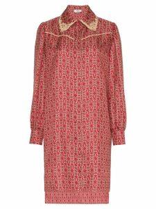 Fendi Gate printed mini dress - Red