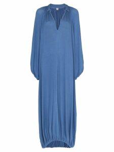 Toteme Paliano v-neck gathered dress - Blue
