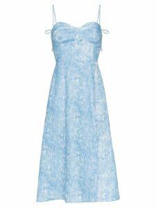 Reformation Nebraska strappy midi dress - Blue