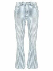 FRAME Engineer striped cropped jeans - Blue