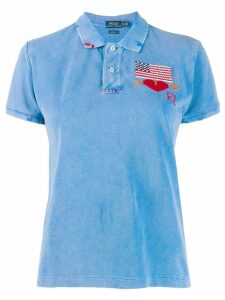 Polo Ralph Lauren embroidered flag polo top - Blue