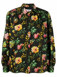 MSGM floral print shirt - Black