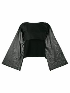Pierantoniogaspari long-sleeve flared blouse - Black