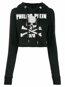 Philipp Plein Destroyed hoodie - Black