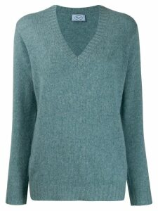 Prada cashmere v-neck sweater - Blue