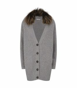 Fox Collar Cardigan