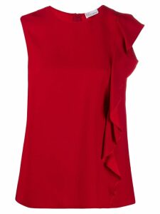 Red Valentino ruffle trim blouse