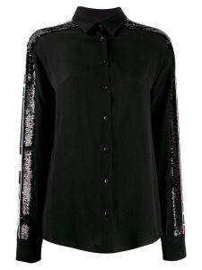 Iceberg sequin panelled sleeve shirt - Black