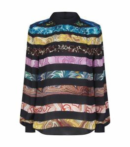 Venus Silk Ripple-Stripe Blouse