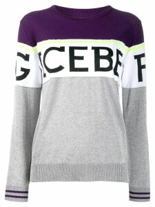 Iceberg colour block logo print jumper - Grey
