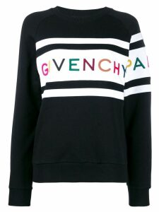 Givenchy logo embroidered sweatshirt - Black